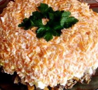 Салаты со шпротами и сухариками рецепты
