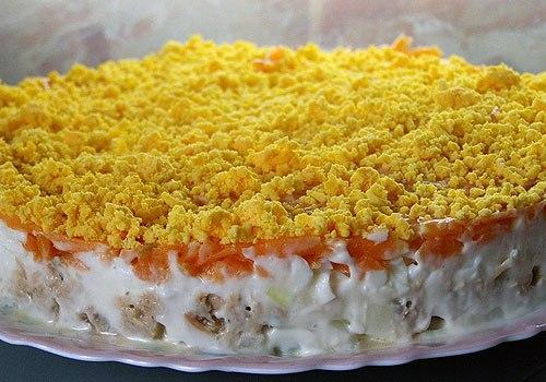 Салат мимоза рецепт со шпротами пошаговый рецепт