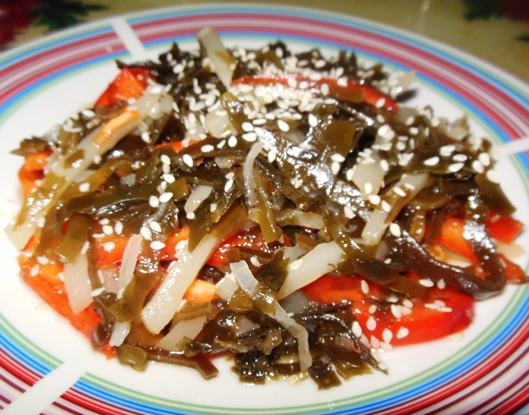 Салат из морской капустой рецепт с очень вкусный