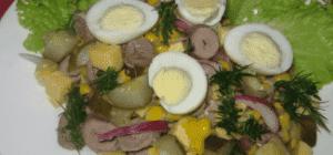 Салат из сердечек с кукурузой