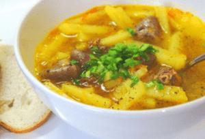 Сердце куриное (суп)