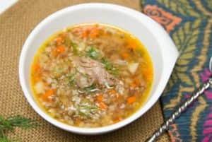Суп из куриных сердечек с гречкой