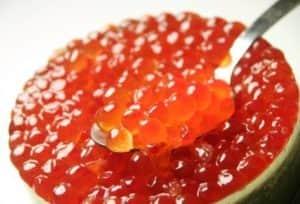 Икра красная - посол с растительным маслом