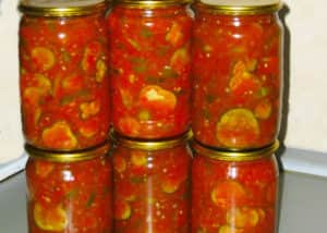 Резаные маринованные огурцы в томатном соусе на зиму