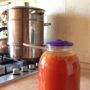 Сок томатный на зиму в соковарке