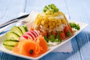 Заливное с курицей и овощами (с желатином)
