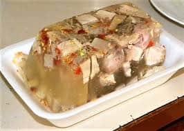 Заливное из мяса свинины