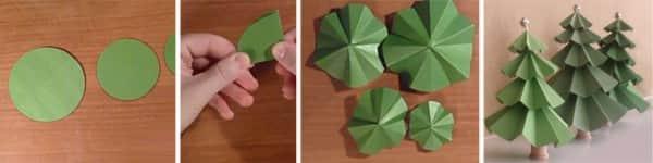 Ёлочки из картона складные своими руками