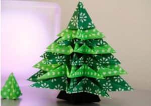 Ёлка из ткани, сделанная своими руками - прекрасный подарок на Новый год