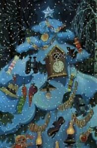 Украсить ёлку можно нестандартно и оригинально (кадр из мультфильма «Зима в Простоквашино»)