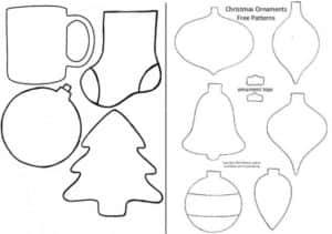 Ёлочные игрушки из фетра: выкройки