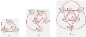 Елочная игрушка из бисера: маленький шарик (схема)