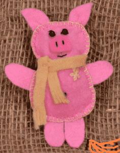 Новогодняя игрушка из фетра своими руками: свинка