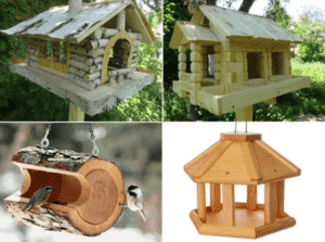 Деревянные кормушки для птиц своими руками