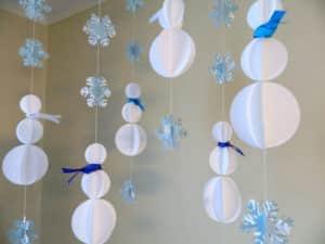 Как украсить потолок на Новый год в детском саду