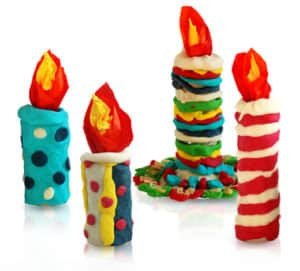 Игрушки из соленого теста (свечи)