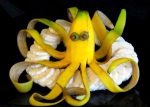 Как нарезать фрукты: бананы