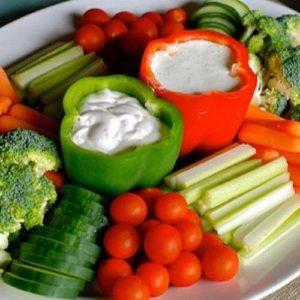 Красивая овощная нарезка на праздничный стол (фото)