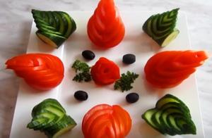 Нарезка овощей на праздничный стол: огурцы и помидоры